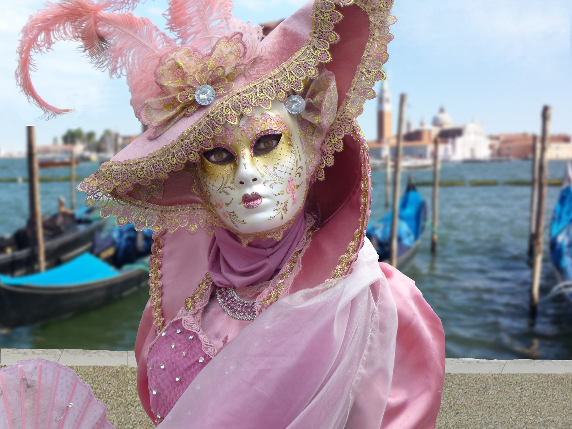 máscara, fantasia, carnaval, Veneza, Itália - Papéis de parede HD - Professor-falken.com