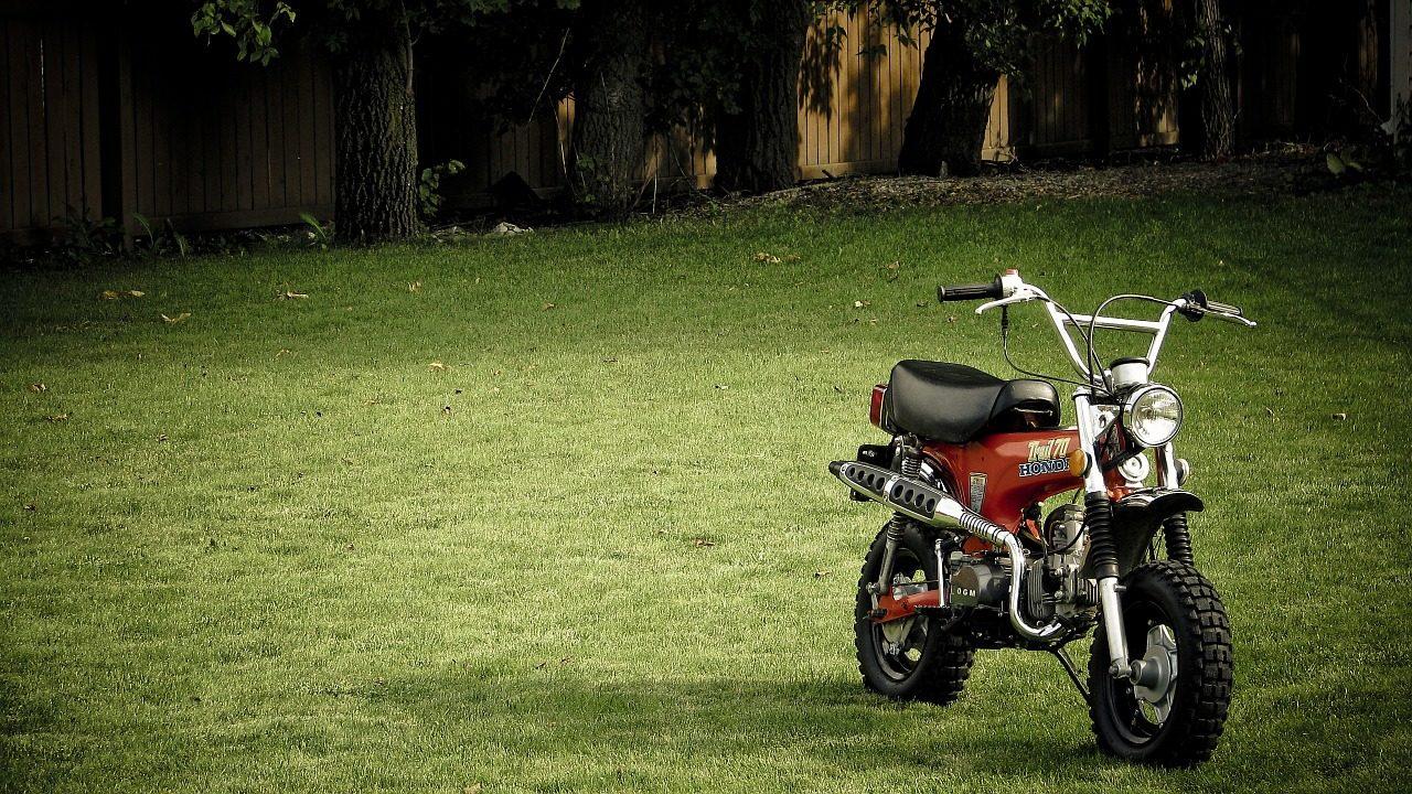 دراجة نارية, موتو, حديقة, المرج, الظل - خلفيات عالية الدقة - أستاذ falken.com