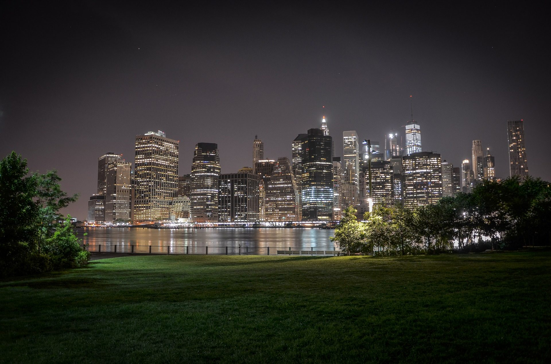 Park, Stadt, Skyline, Wolkenkratzer, Brooklyn - Wallpaper HD - Prof.-falken.com