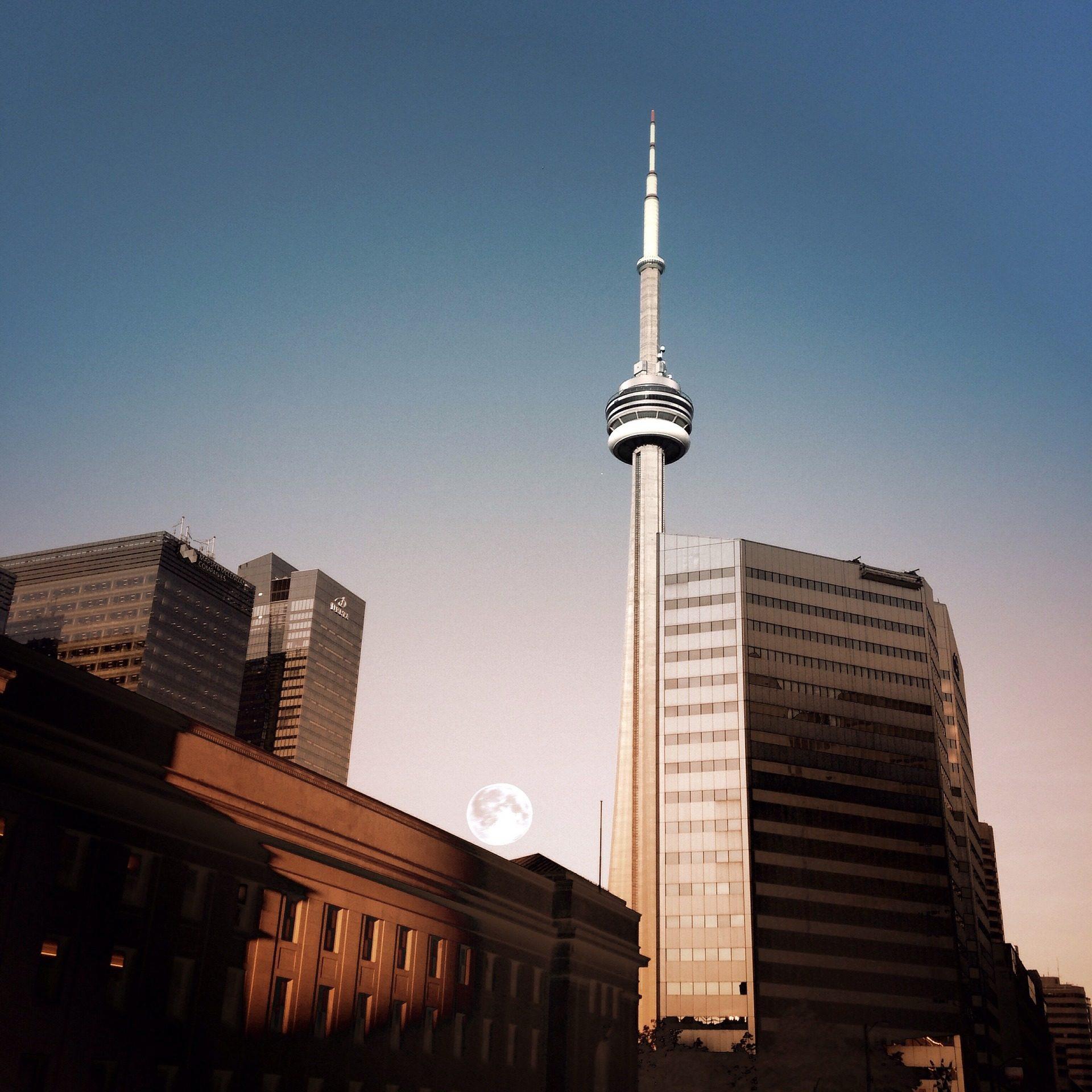 rascacielos, ciudad, torre, nacional, cn, toront, canadá, 1702261129