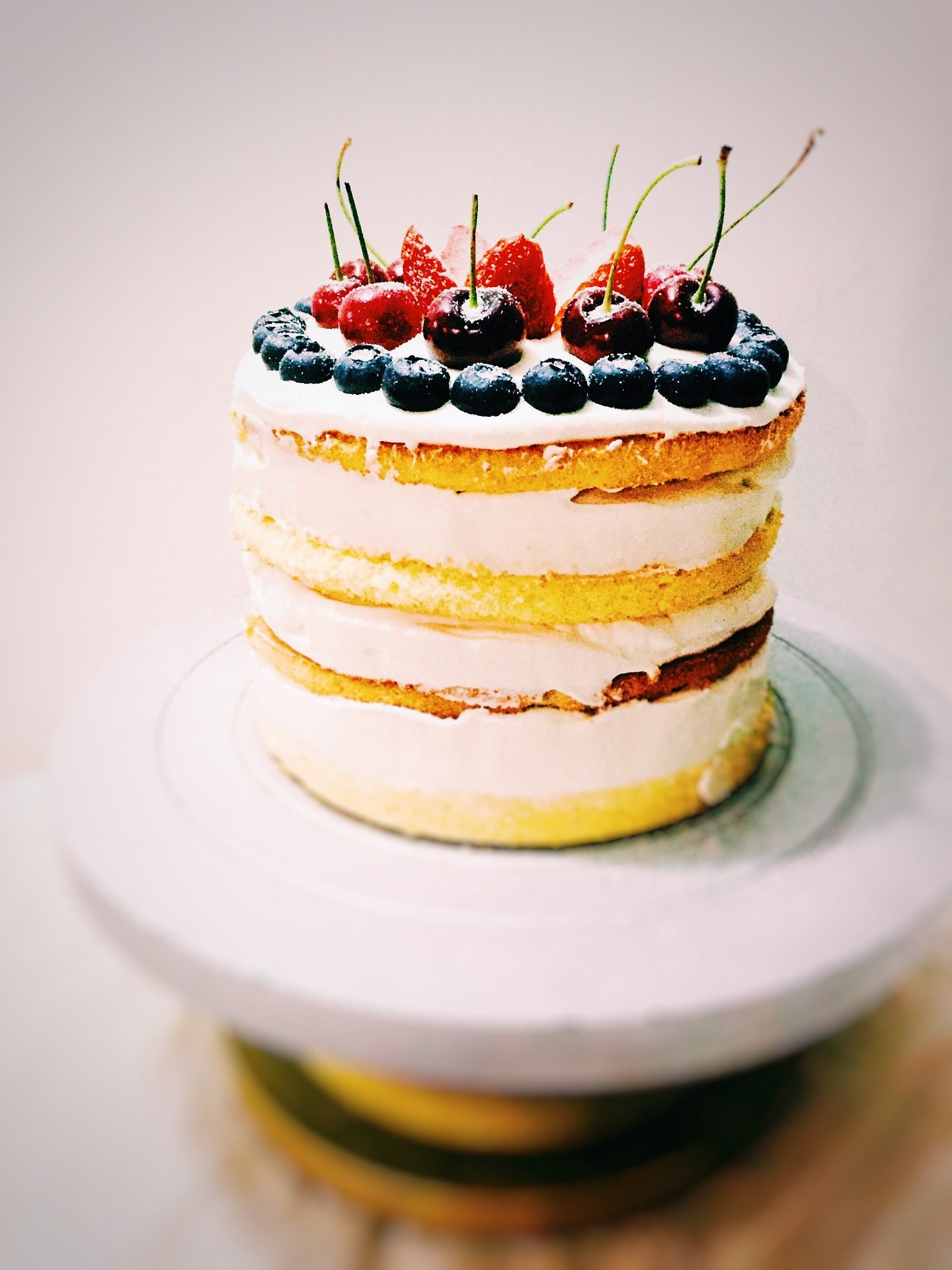 tarta, كعكة, حلوى, كعكة الأسفنج, كرز حامض - خلفيات عالية الدقة - أستاذ falken.com