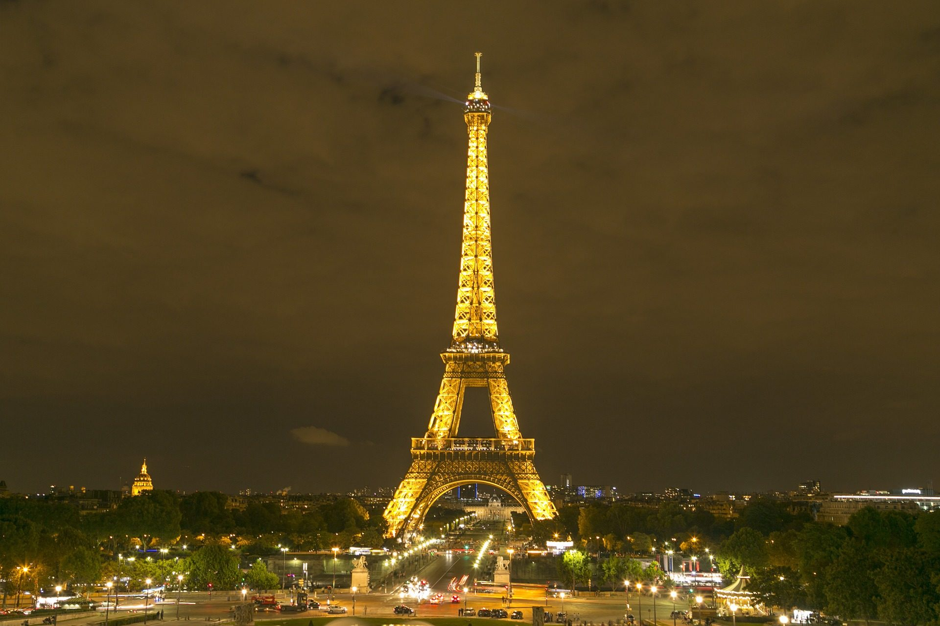 torre, eiffel, ciudad, noche, luces, monumento, parís - Fondos de Pantalla HD - professor-falken.com
