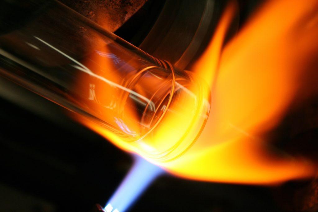 vidrio, cristal, moldeado, fabricación, fuego, llama, 1702212219
