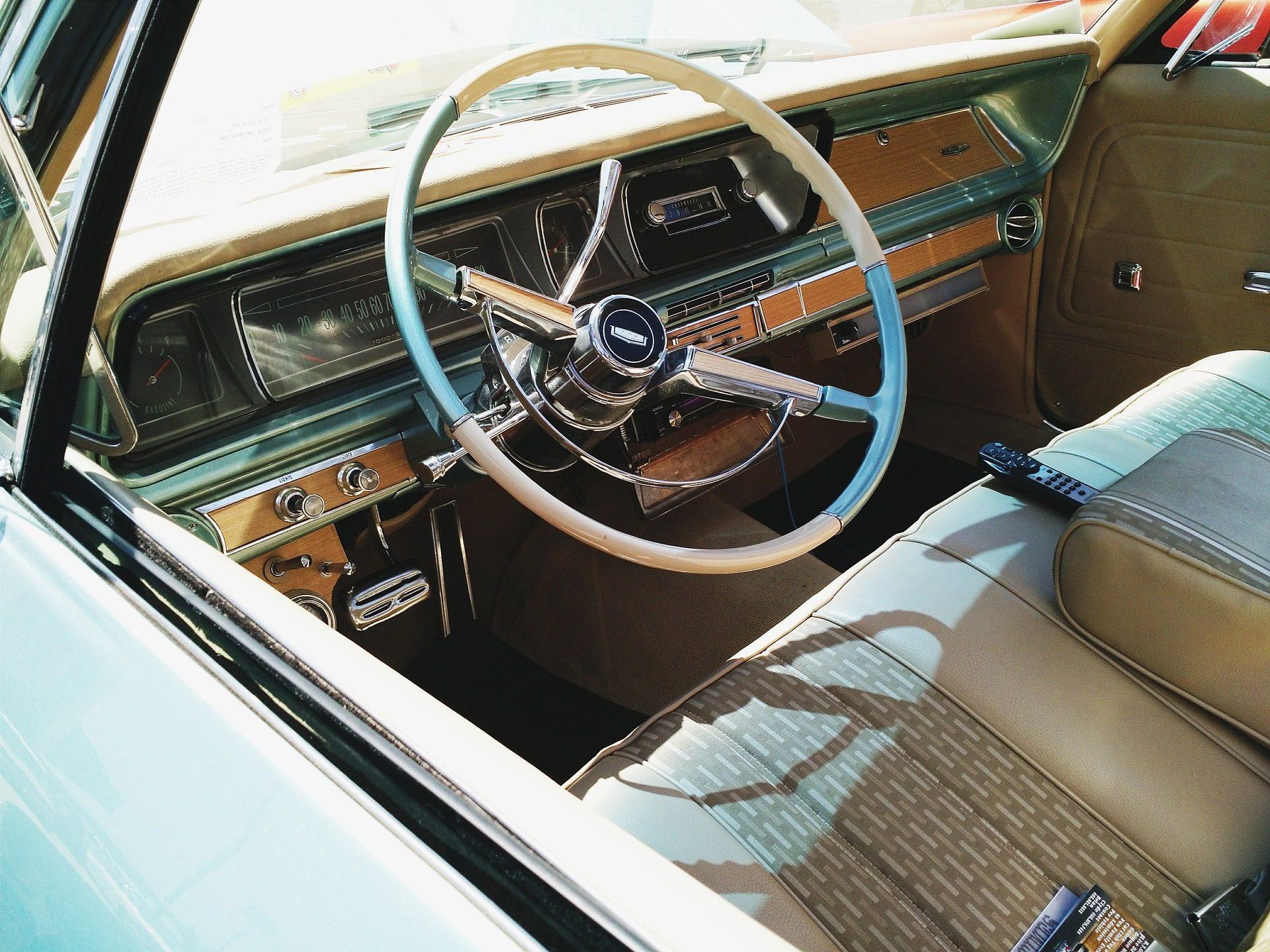 عجلة القيادة, لوحة المعلومات, سيارات, القديمة, خمر - خلفيات عالية الدقة - أستاذ falken.com