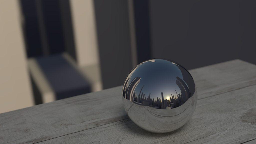 Ball, Metal, réflexion, Skyline, Ville, gratte-ciel, miroir, 1703061152