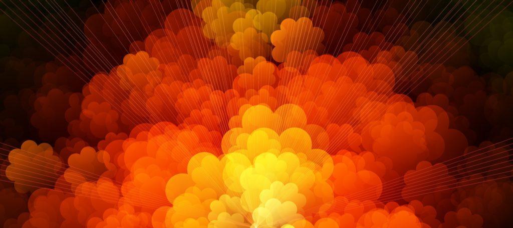 Formes, couleurs, nuages, fumée, circulos, Stripes, Orange, 1703170818