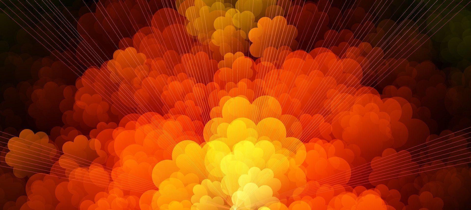 formas, colores, nubes, humo, círculos, rayas, naranja - Fondos de Pantalla HD - professor-falken.com