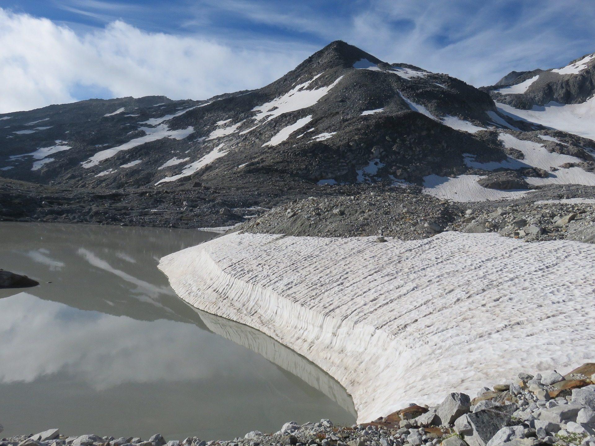 See Tapete Gletscher Berge Steinen Schnee Professor Falken