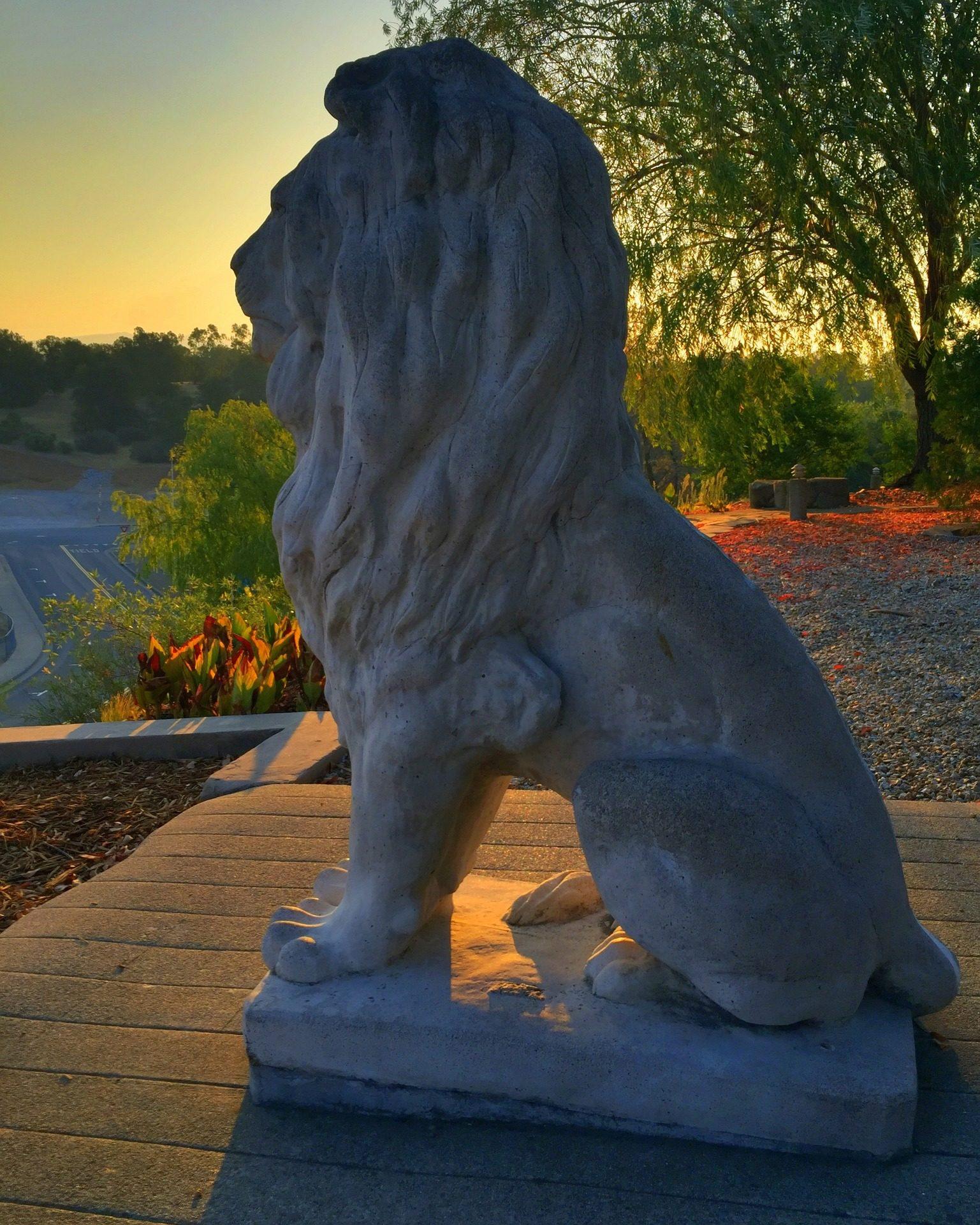 Fondo de pantalla de le n estatua escultura jard n for Estatuas jardin