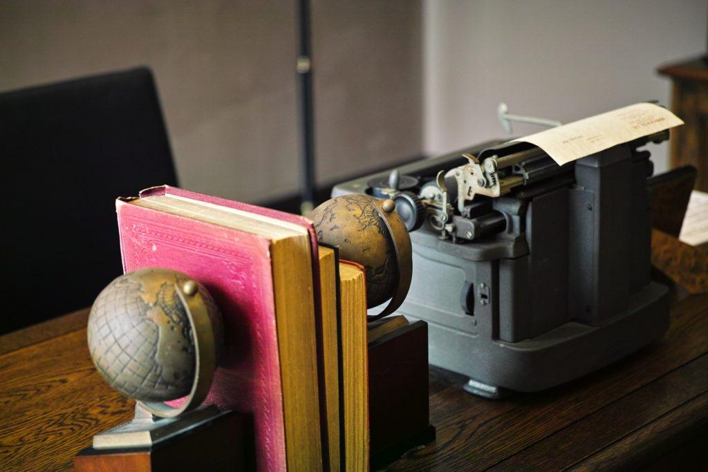 机器, 写, antigua, 老, 年份, 书籍, 桌面, 1703211632