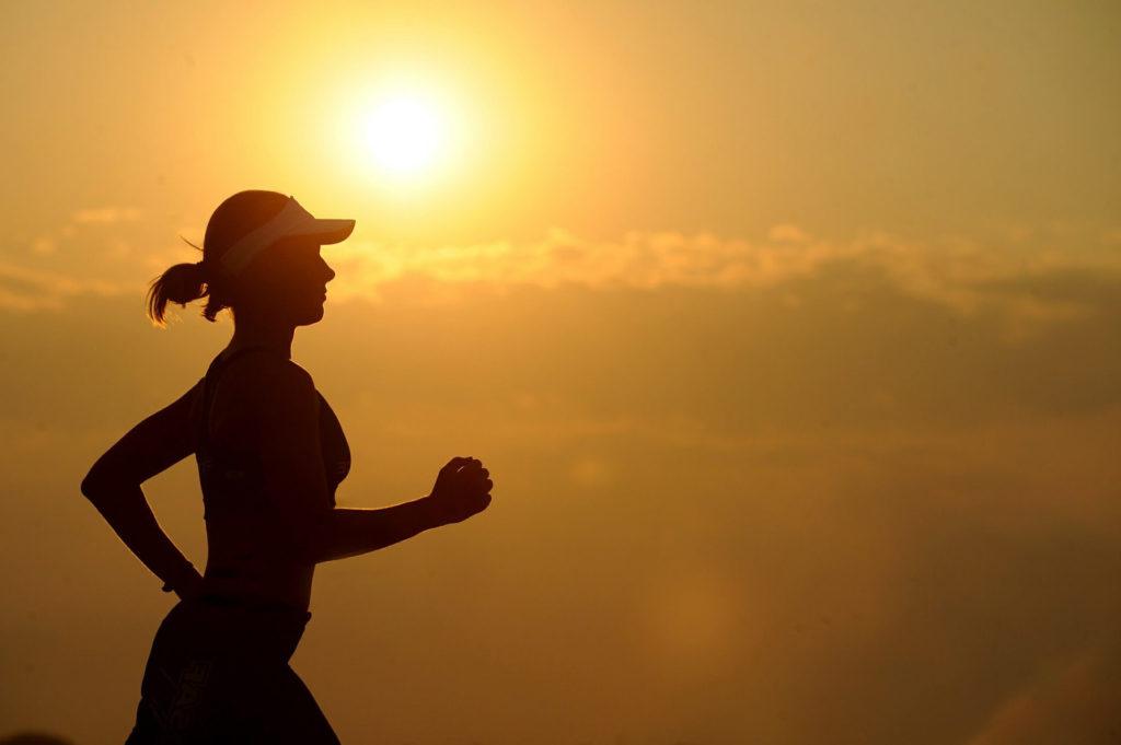 女人, corredora, 锻炼, 运行, 太阳, 日落, 阴影, 1703181950