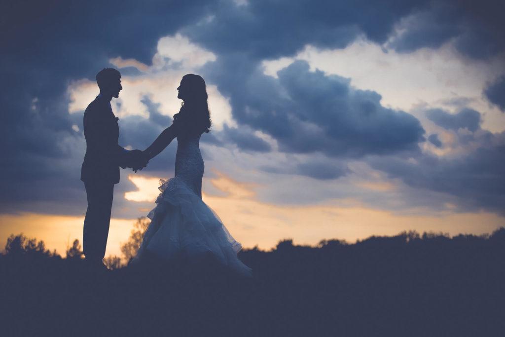 pareja, novios, casados, matrimonio, boda, sombras, atardecer, 1703231611