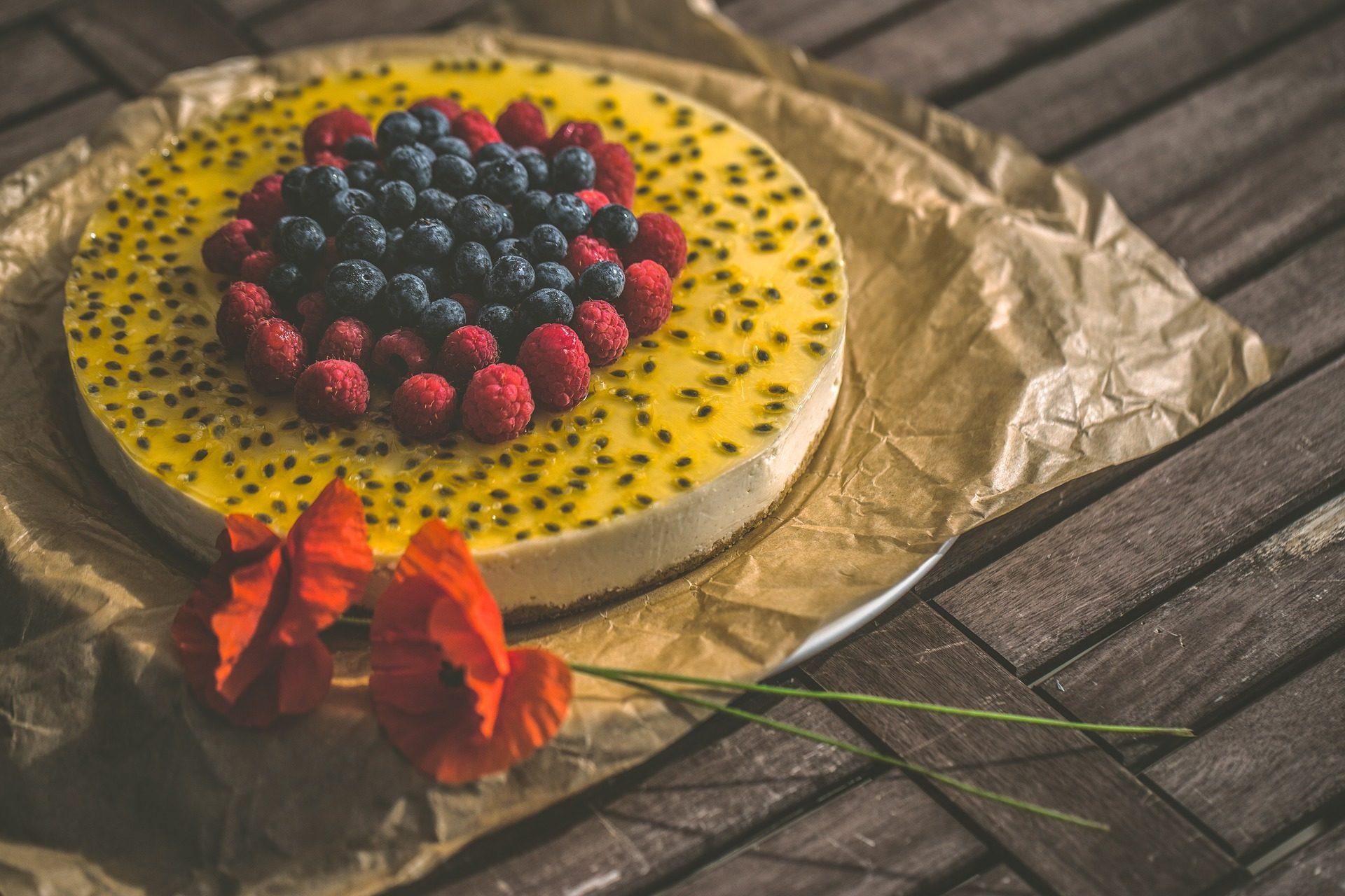 pastel, gâteau, bleuets, Mûres, fleurs, coquelicots - Fonds d'écran HD - Professor-falken.com