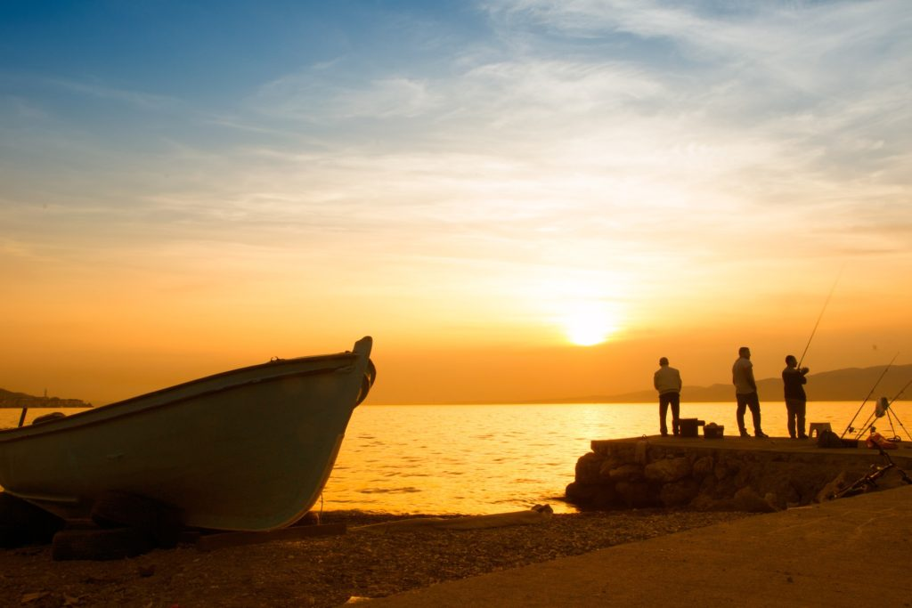 海滩, 巴萨, 捕鱼, 渔民, 日落, 海, 1703251340
