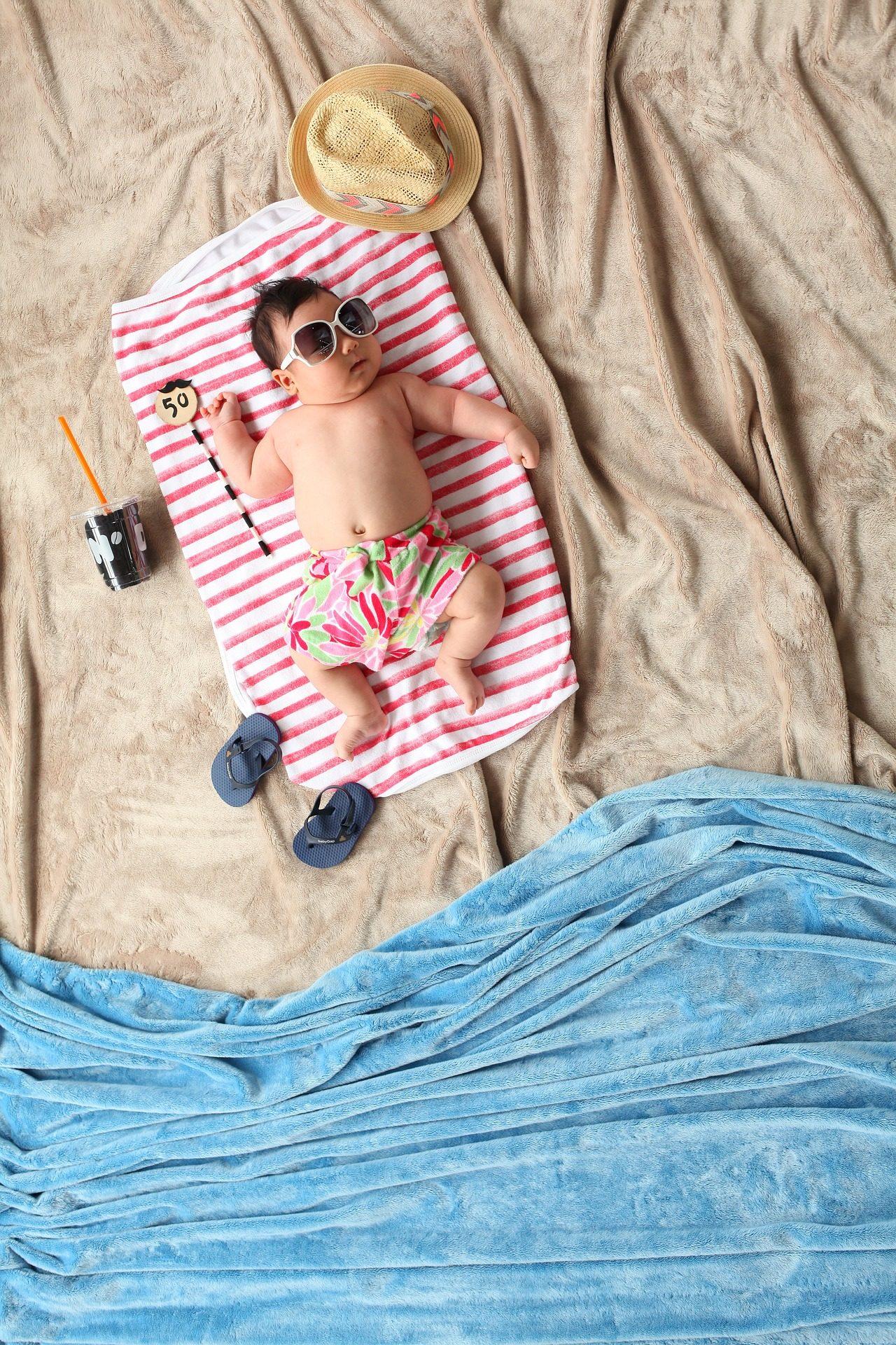 ग्रीष्मकालीन, bebé, सो, समुद्र तट, simulación - HD वॉलपेपर - प्रोफेसर-falken.com
