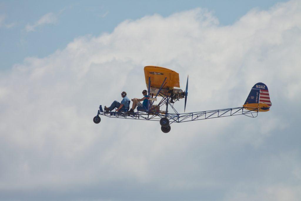 aeroplano, ultraligero, 飞行, cielo nubes, 轻型飞机, 1704230823