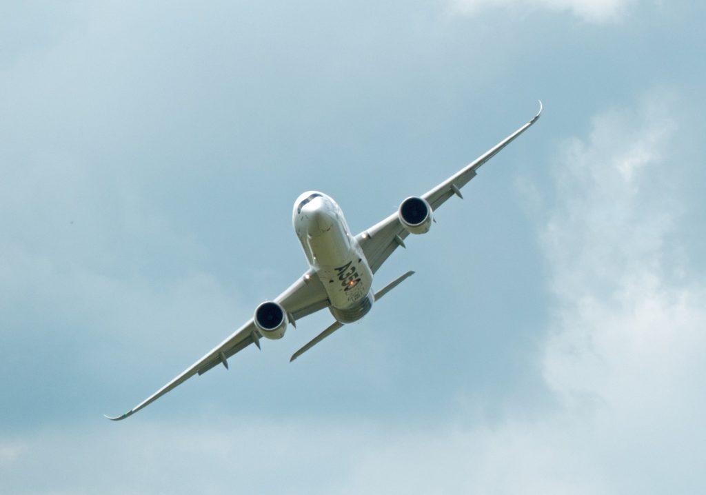 飞机, inclinación, 倾斜, 银行转帐, 飞, 空客, 1704141234