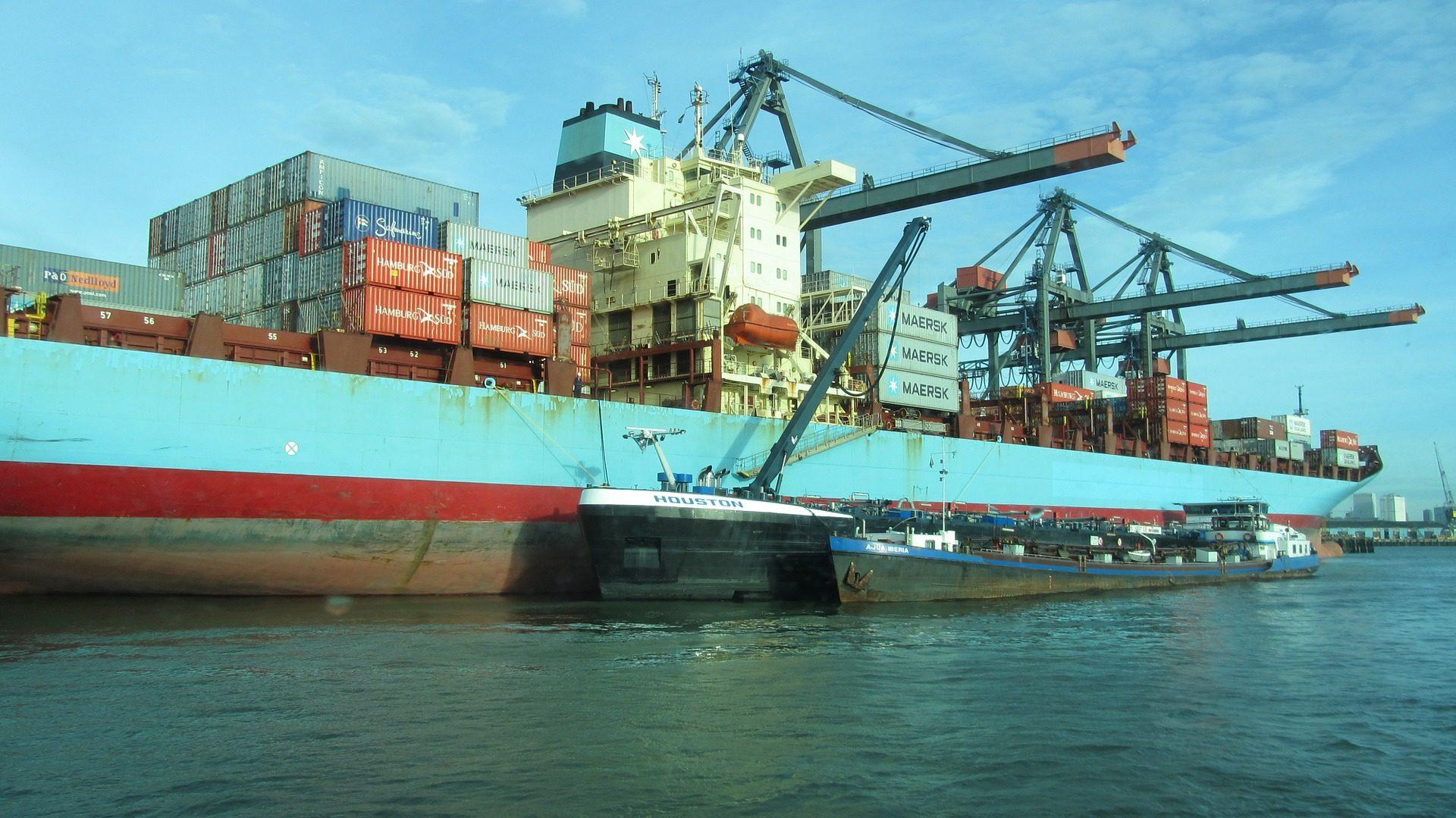 barco, cargueiro, recipientes, guindastes, expedições - Papéis de parede HD - Professor-falken.com