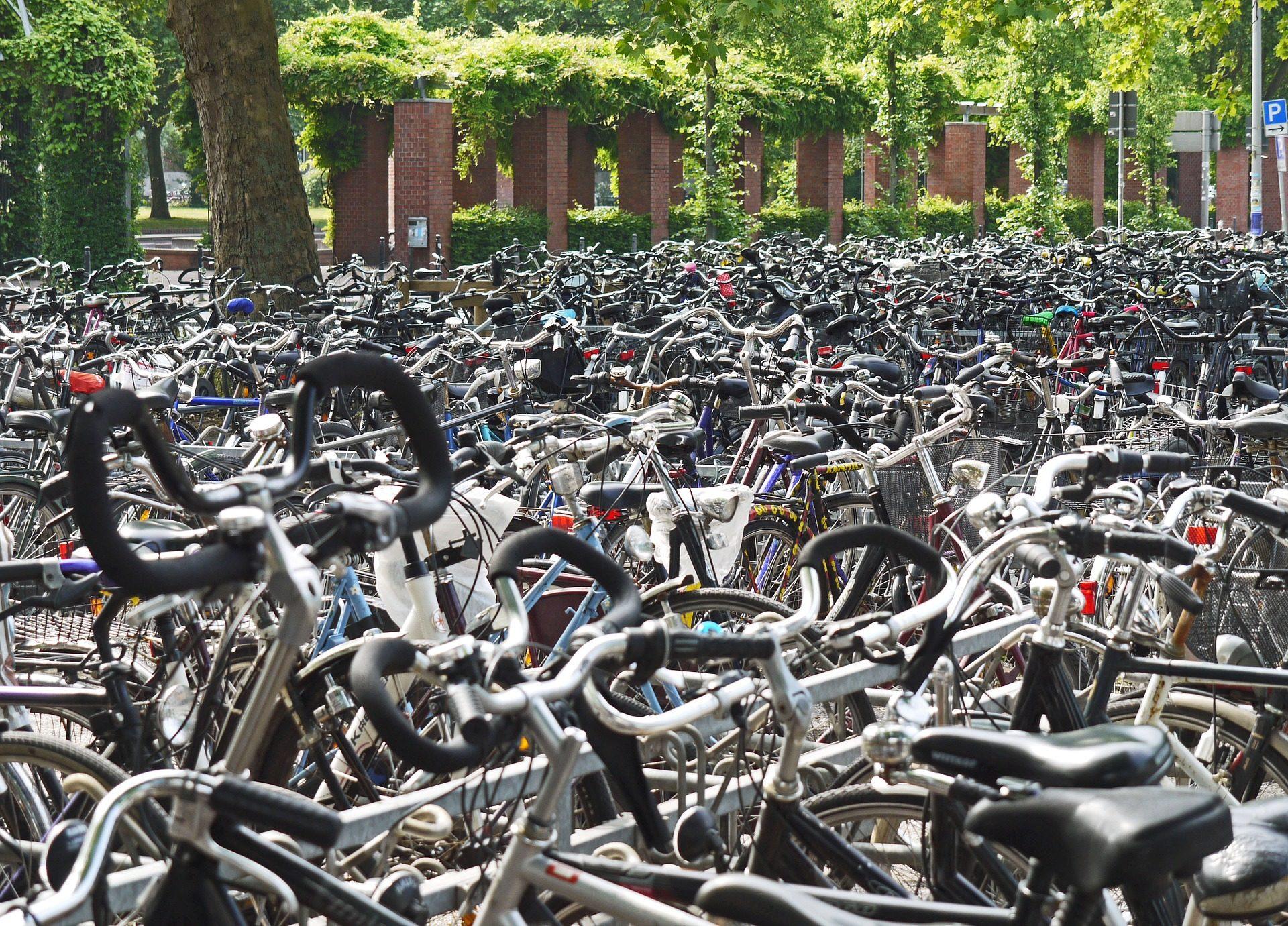 自転車, aparcamiento, 駐車場, 集積, 多様性 - HD の壁紙 - 教授-falken.com