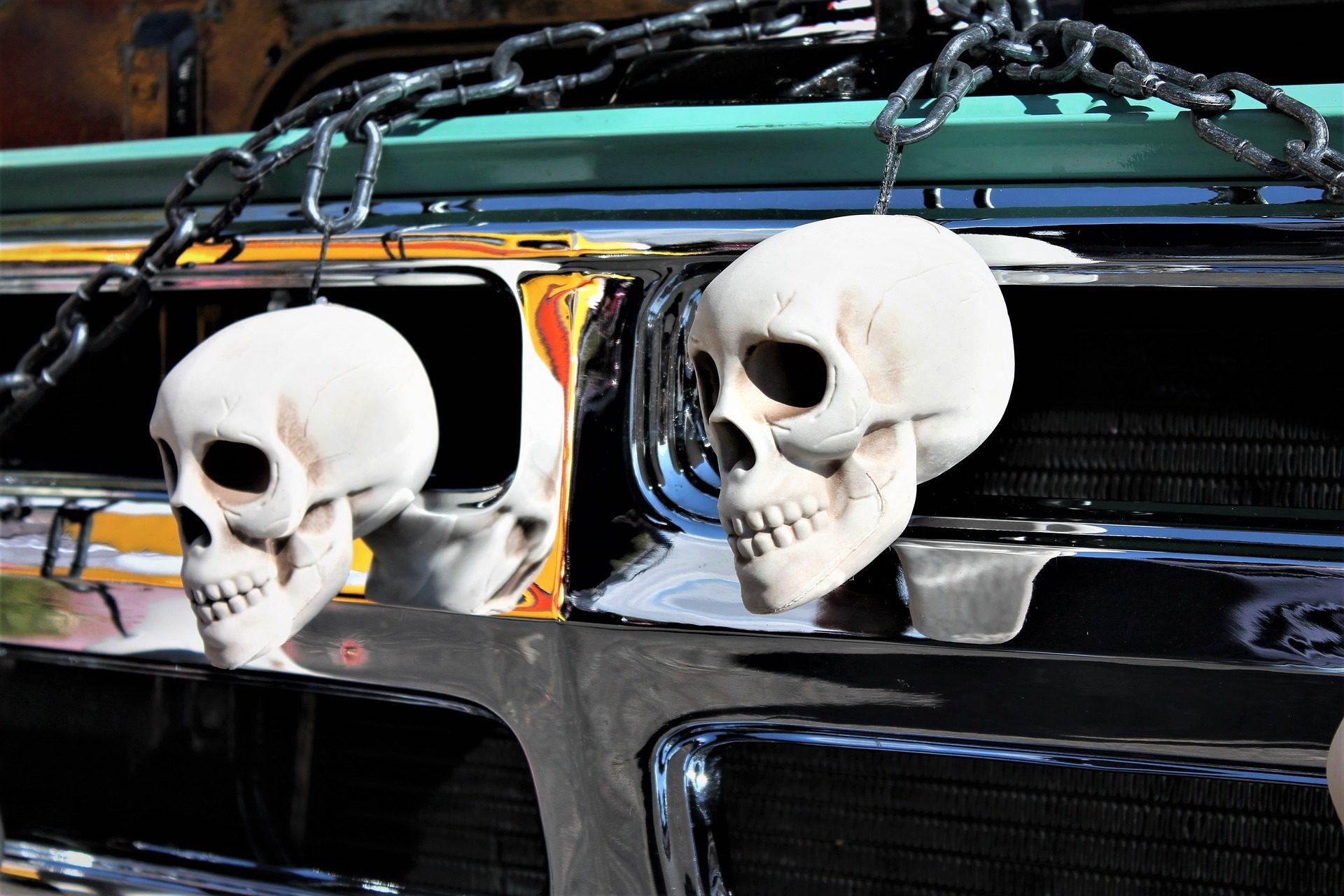 автомобиль, Фронт, Украшение, черепа, цепи - Обои HD - Профессор falken.com