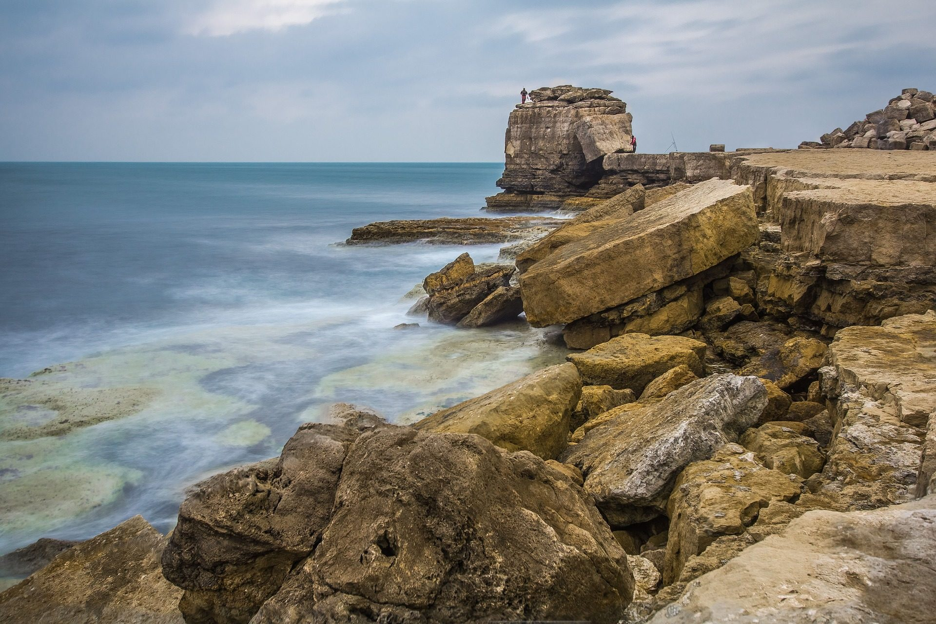 Коста, Море, Риф, камни, Портленд, Англия - Обои HD - Профессор falken.com