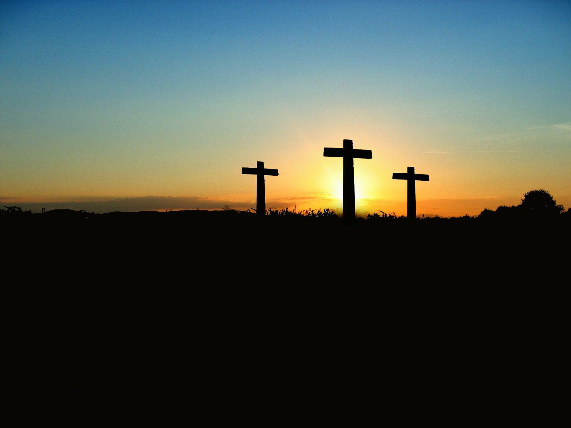 تقاطع, جبل, المسيحية, عيد الفصح, القيامة - خلفيات عالية الدقة - أستاذ falken.com