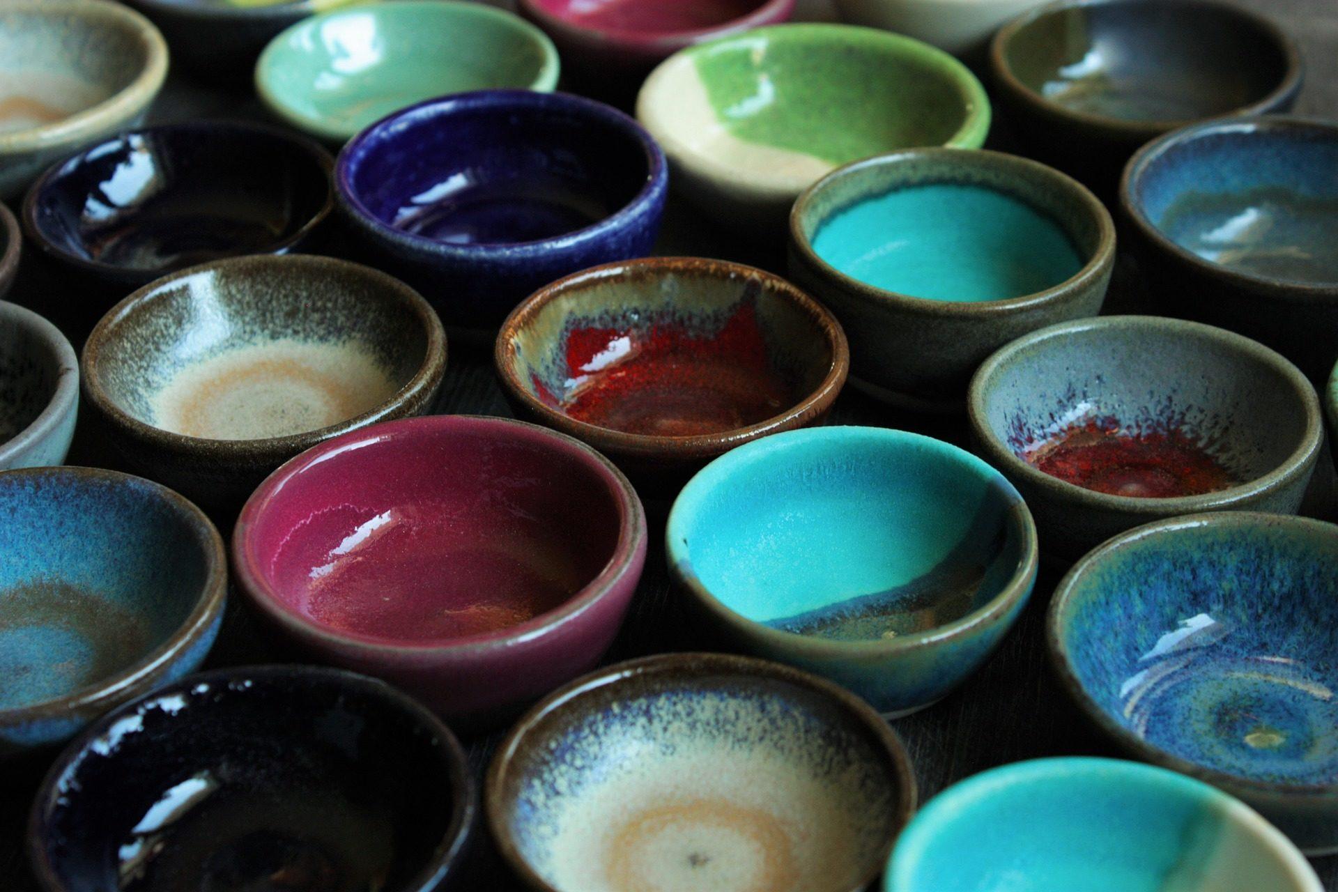 cuencos, cerámica, artesanía, colorido, decorativo - Fondos de Pantalla HD - professor-falken.com