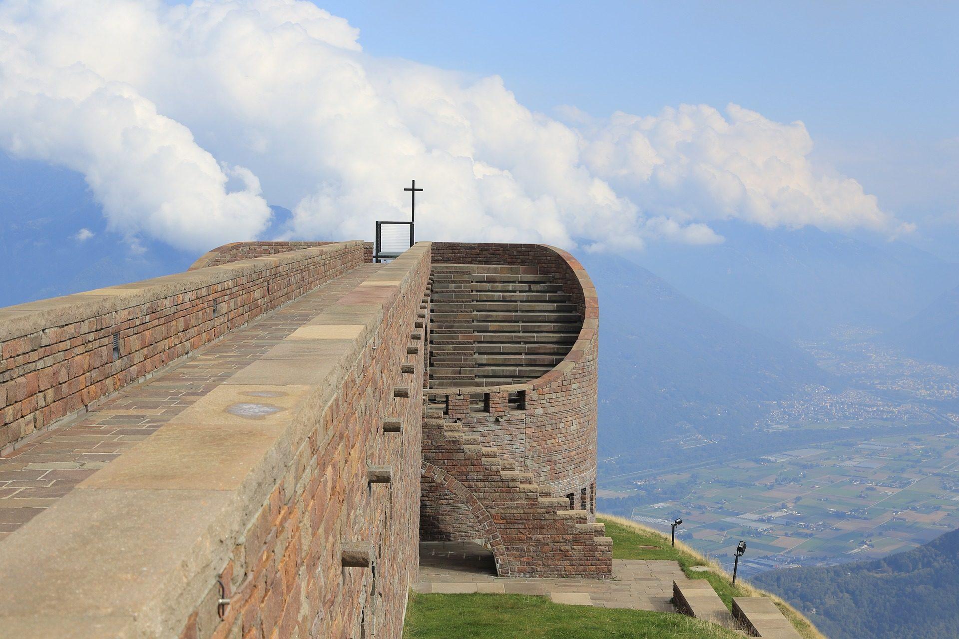 edifício, Monte, Tamaro, Igreja, arquitetura, altitude - Papéis de parede HD - Professor-falken.com