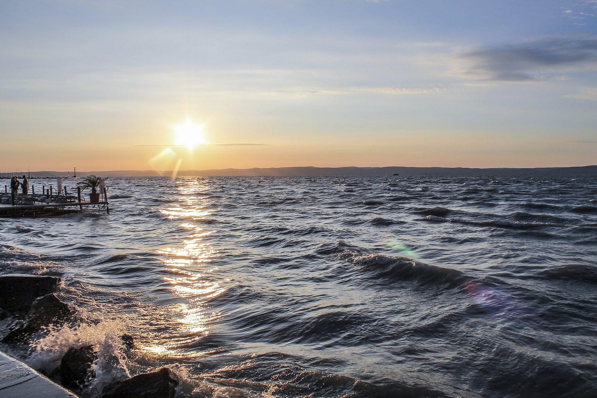 Lago, Balaton, Pôr do sol, Relaxe, Hungria - Papéis de parede HD - Professor-falken.com