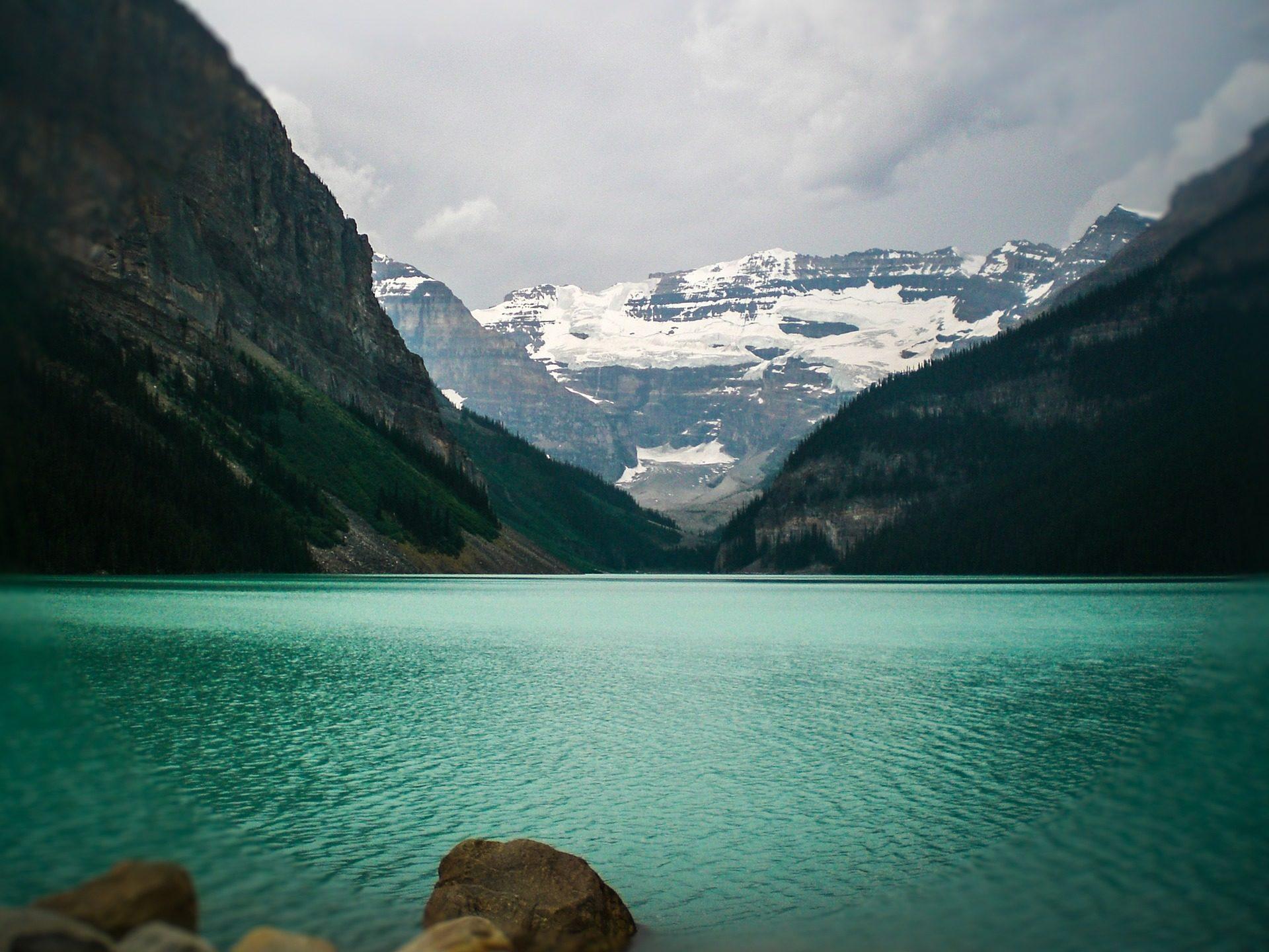 湖, Montañas, 雪, 绿松石, 露易丝, 加拿大 - 高清壁纸 - 教授-falken.com