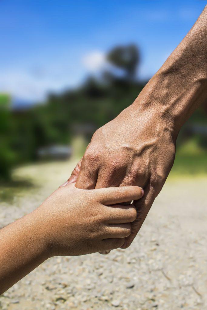 manos, hombre, niño, padre, hijo, familia, 1704171116