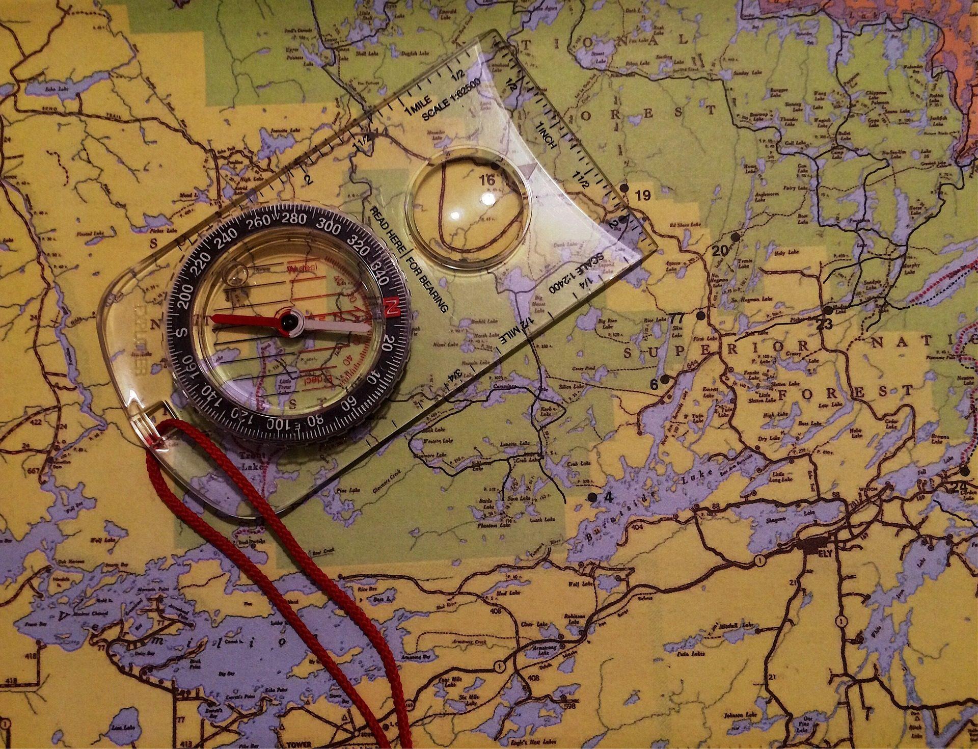 mapa, Bússola, orientação, Geografia, rotas - Papéis de parede HD - Professor-falken.com