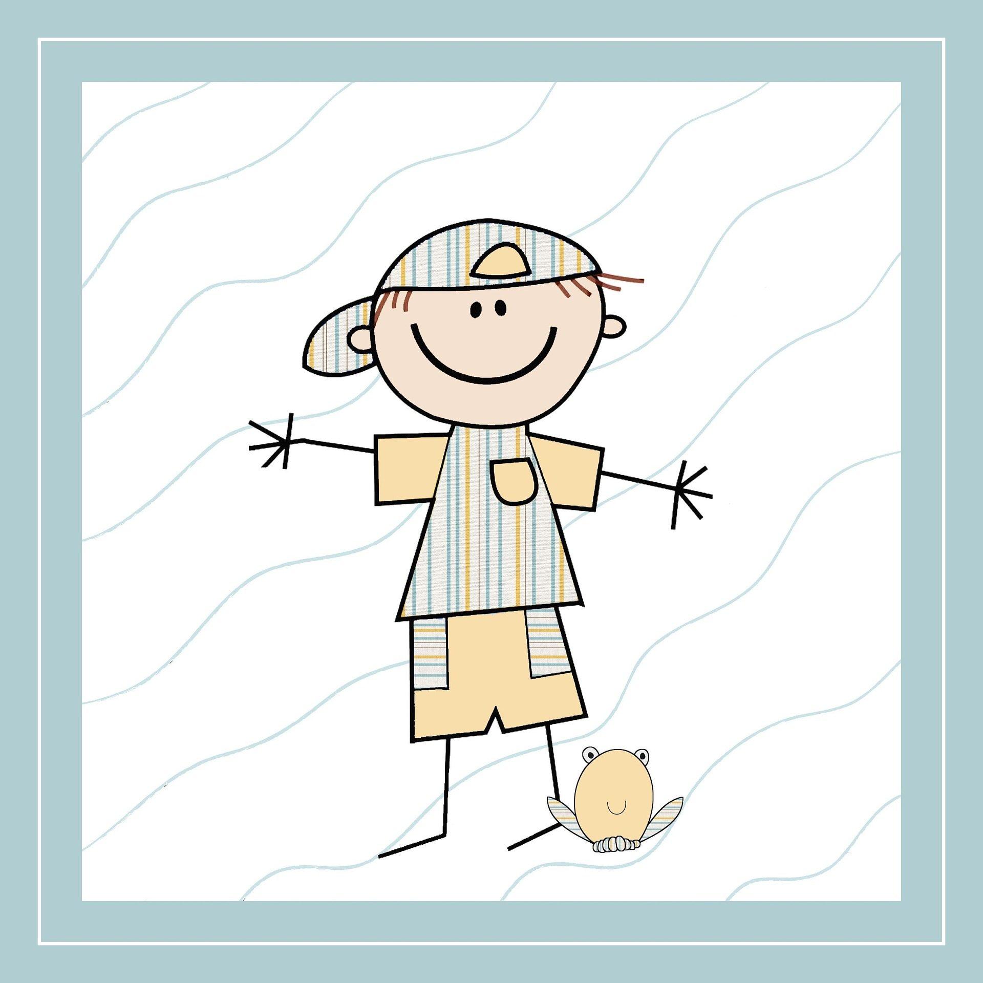 marionnette, dessin, Annonce, naissance, enfant, Cap, 1704261337