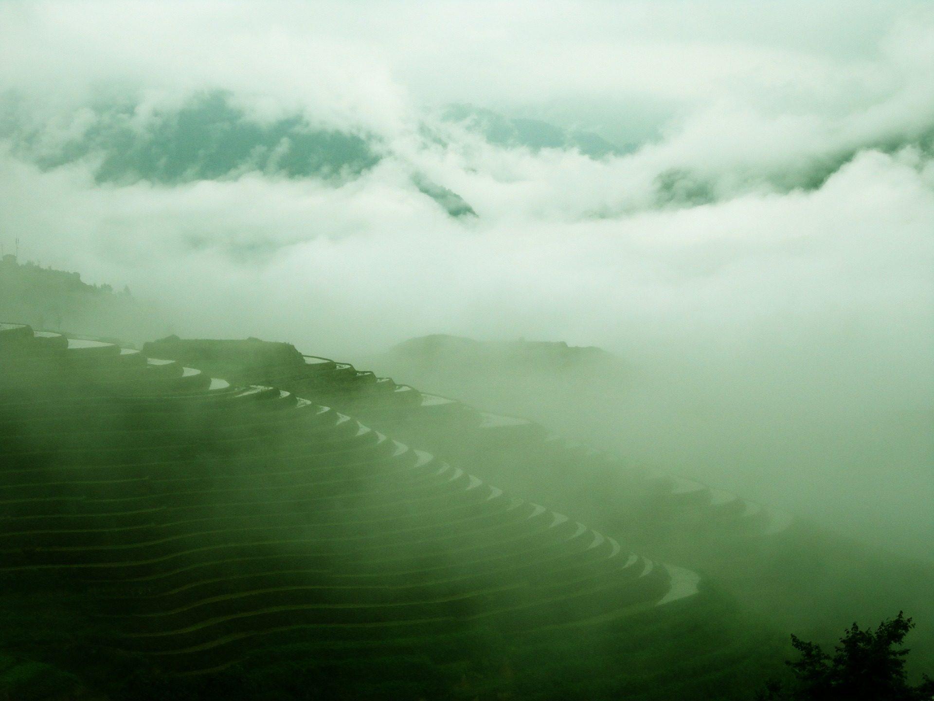 montagne, piste da sci, Plantation, livelli, irrigazione, Guilin - Sfondi HD - Professor-falken.com