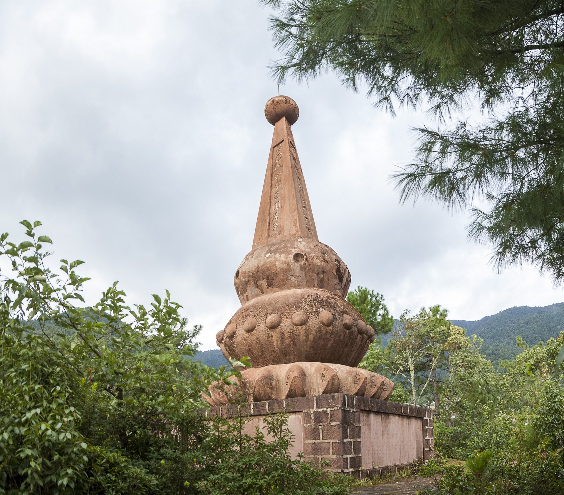 monumento, escultura, piedra, bosque, árboles, montañas, dayao, china - Fondos de Pantalla HD - professor-falken.com