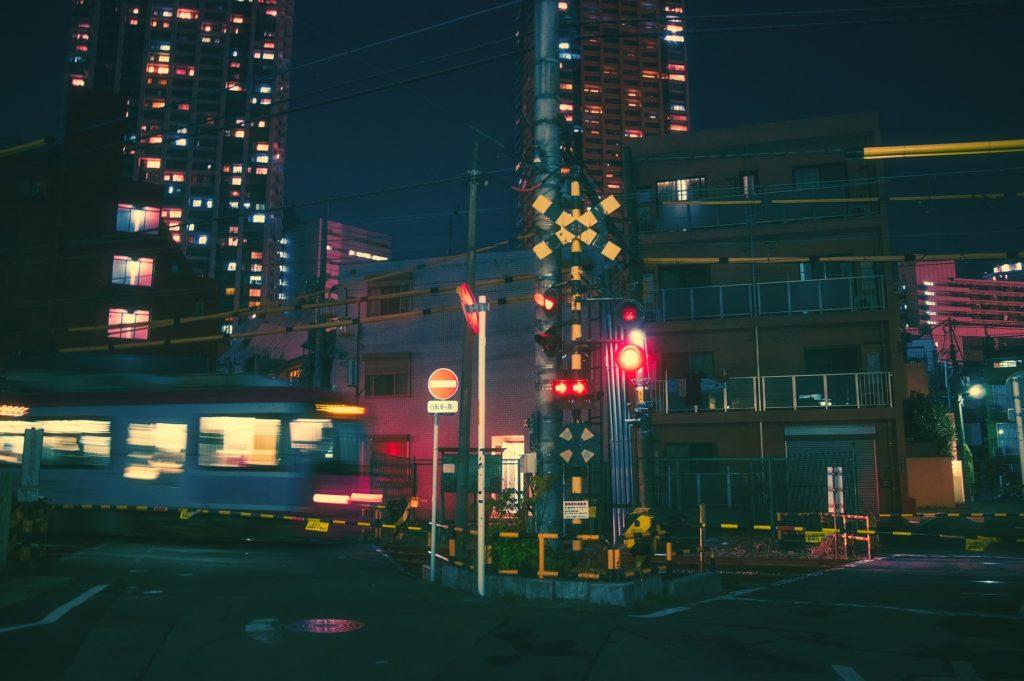 晚上, 城市, 灯, señales, 房子, 建筑, osaka, 日本, 1704231627