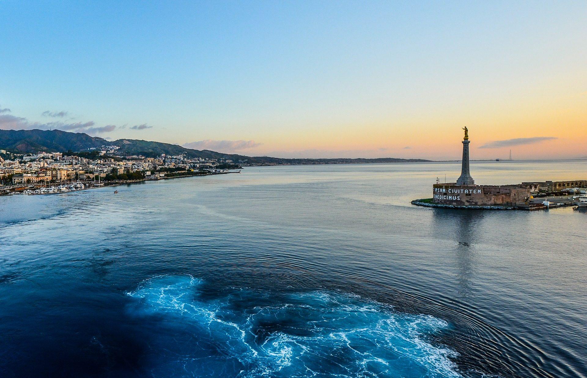 ポート, 海, 市, ベイ, シチリア島, イタリア - HD の壁紙 - 教授-falken.com
