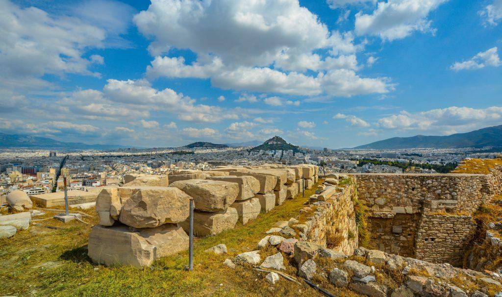 废墟, 城市, 老, 雅典卫城, 寺, 雅典, 希腊, 1704141507