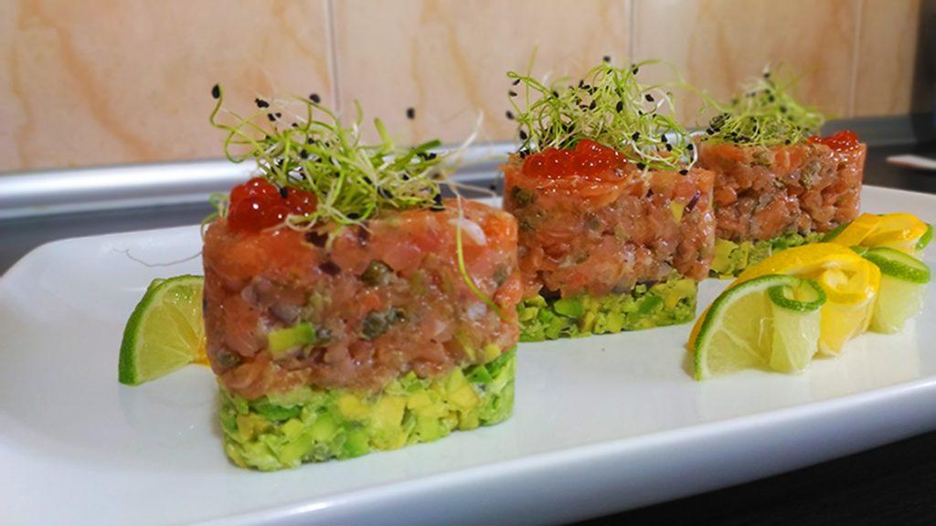 tartar, salmón, 厨房, moderna, limón, sabor, 1704231913