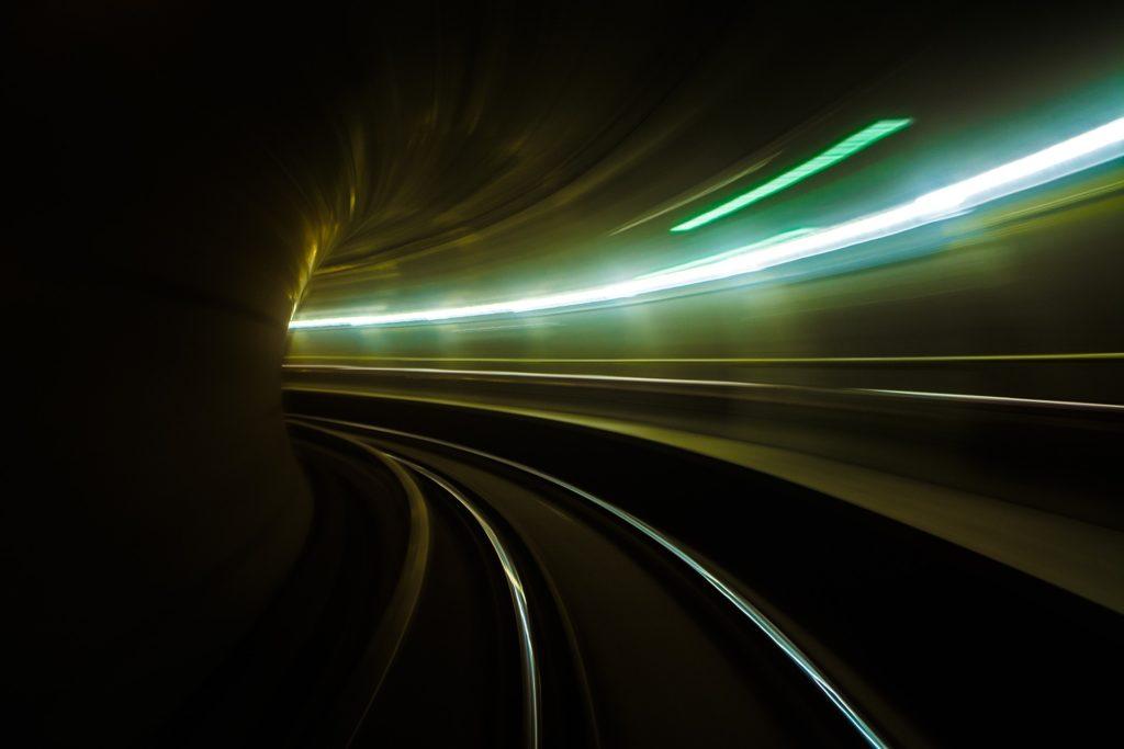 tunel, metro, vía, luces, velocidad, curva, 1704151615