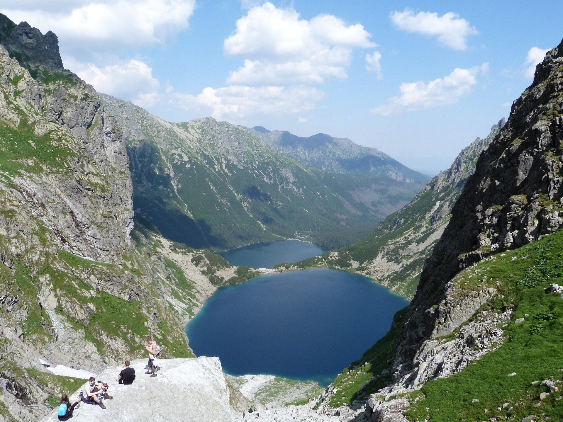 Долина, Монтаньяс, Озеро, Туризм, воды, Польша - Обои HD - Профессор falken.com
