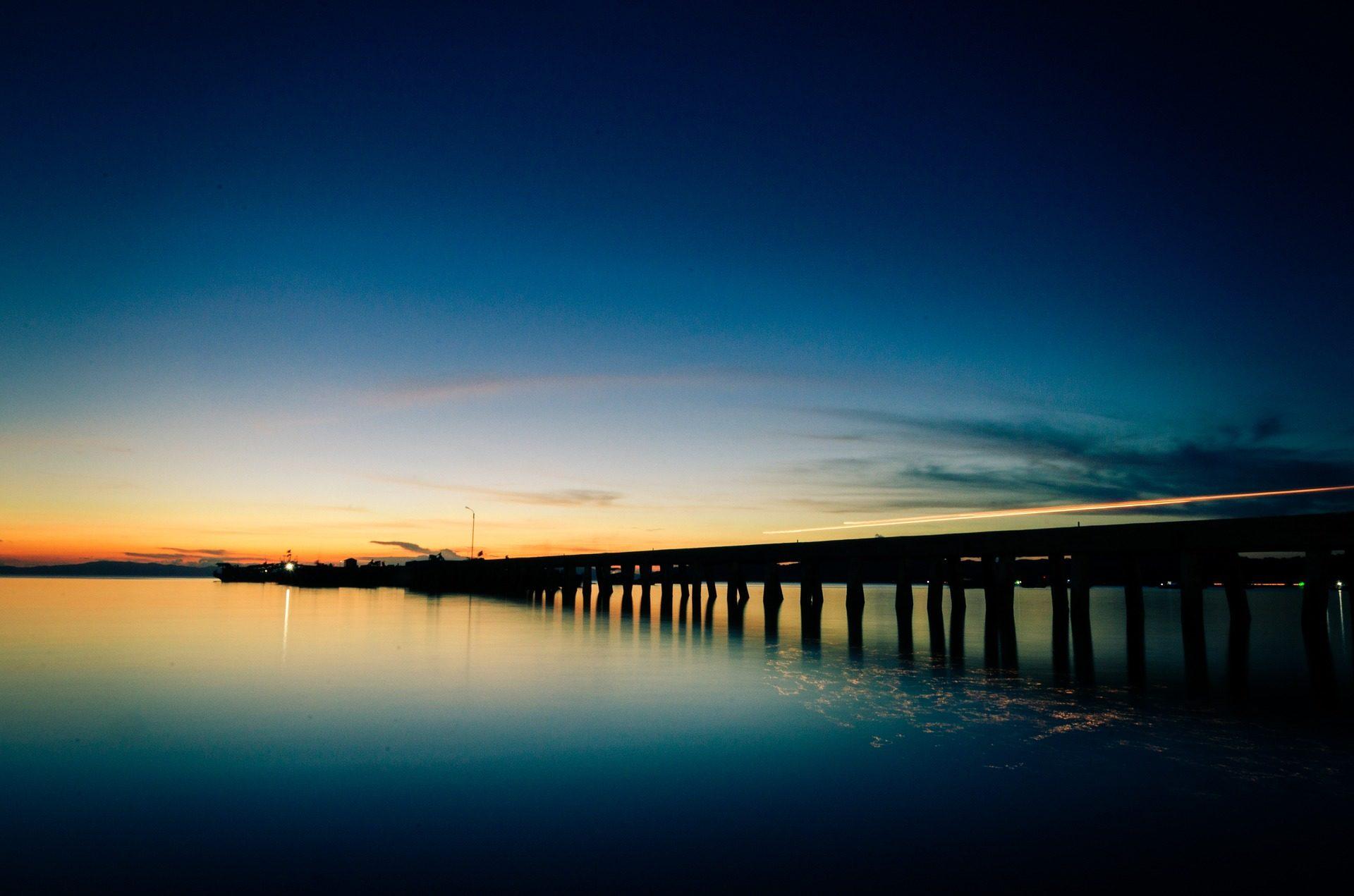 Paysage mer coucher de soleil - Fond ecran coucher de soleil sur la mer ...