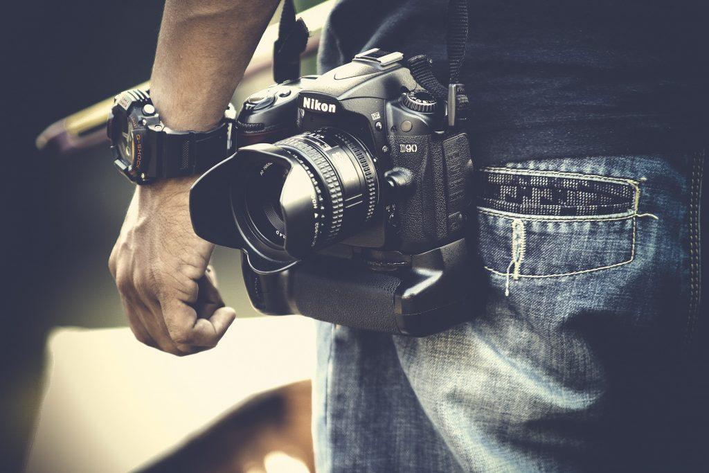 相机, fotográfica, 男子, 摄影师, 反射, 手, 手表, 1705310814