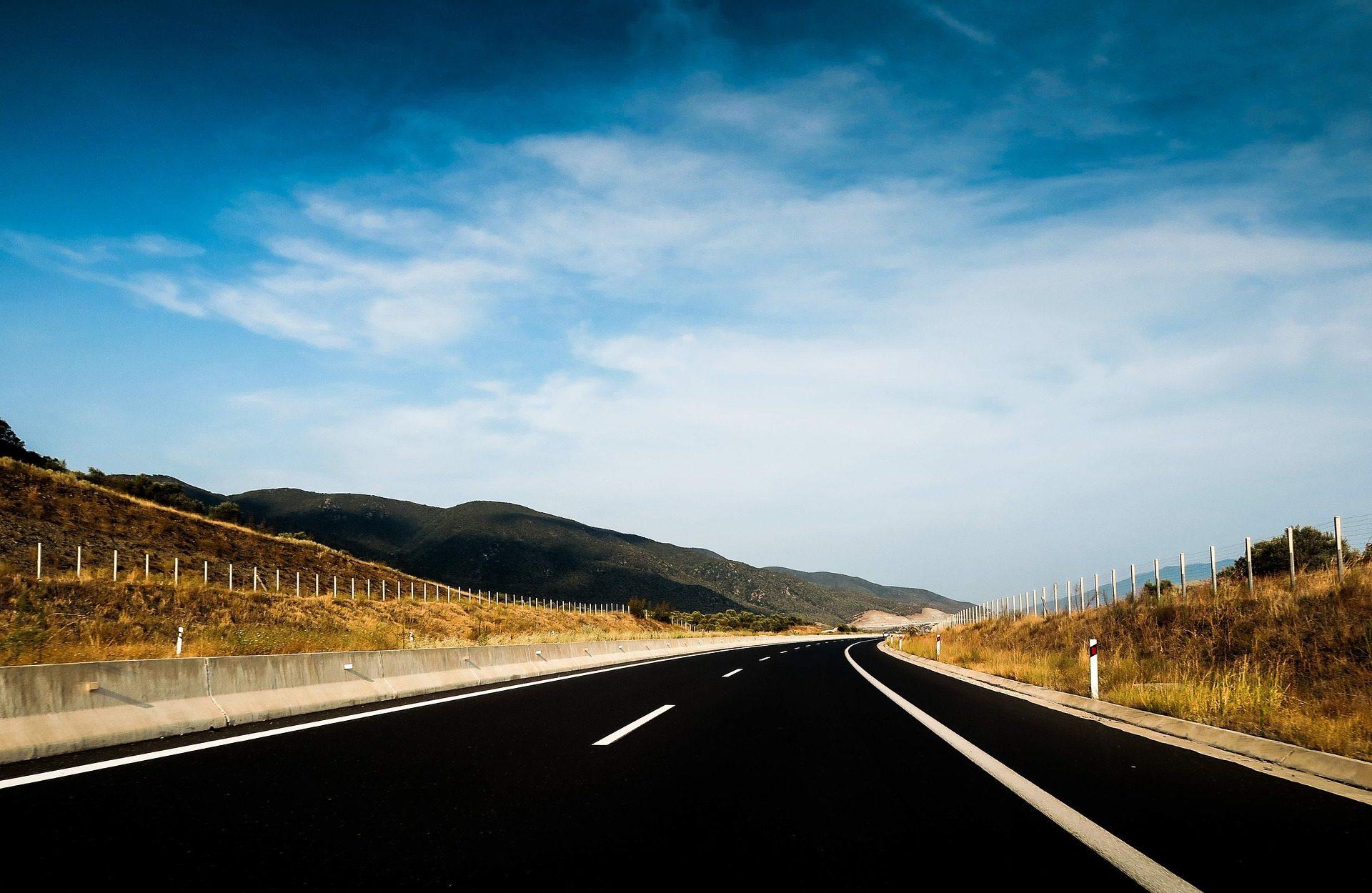 道路, アスファルト, 高速道路, サナダムシ, 目的地, 旅行, モンタナス, 空 - HD の壁紙 - 教授-falken.com