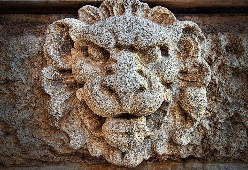 figura, piedra, roca, escultura, león, ornamentación, 1705241906
