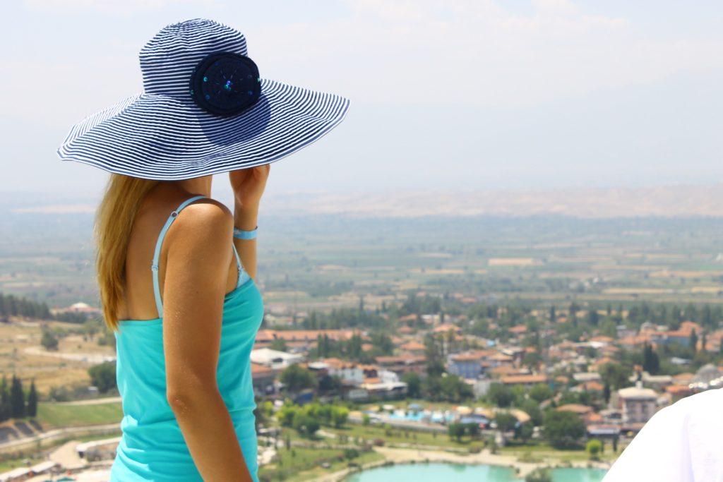 女人, 帕米拉, 帽子, 城市, 高地, 视图, 1705161637
