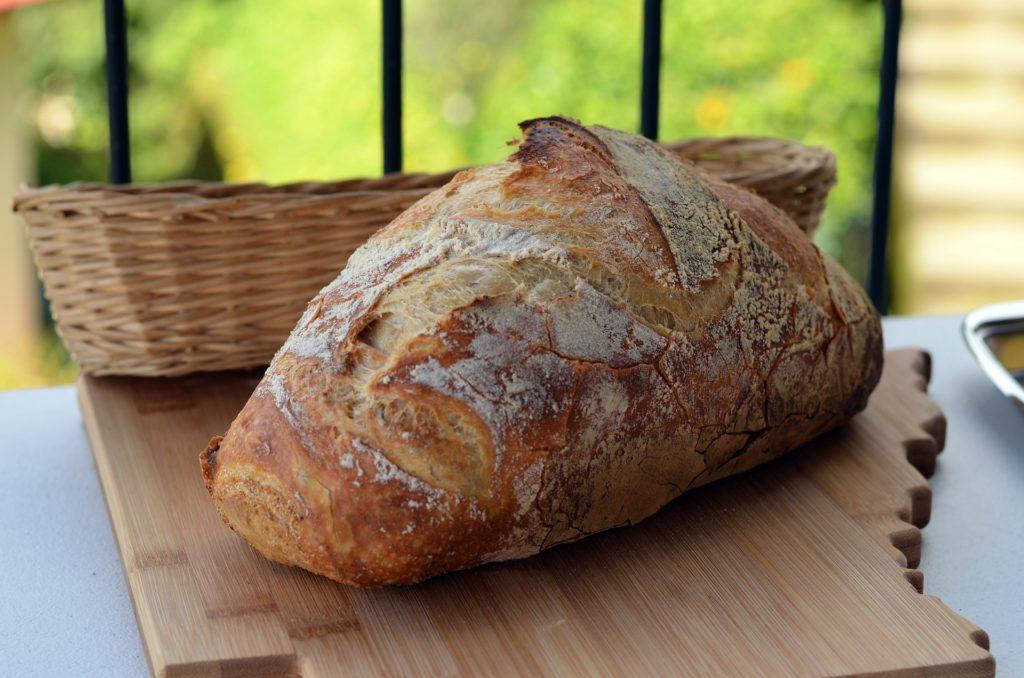 面包, hogaza, pieza, harina, 购物篮, mimbre, 1705090843