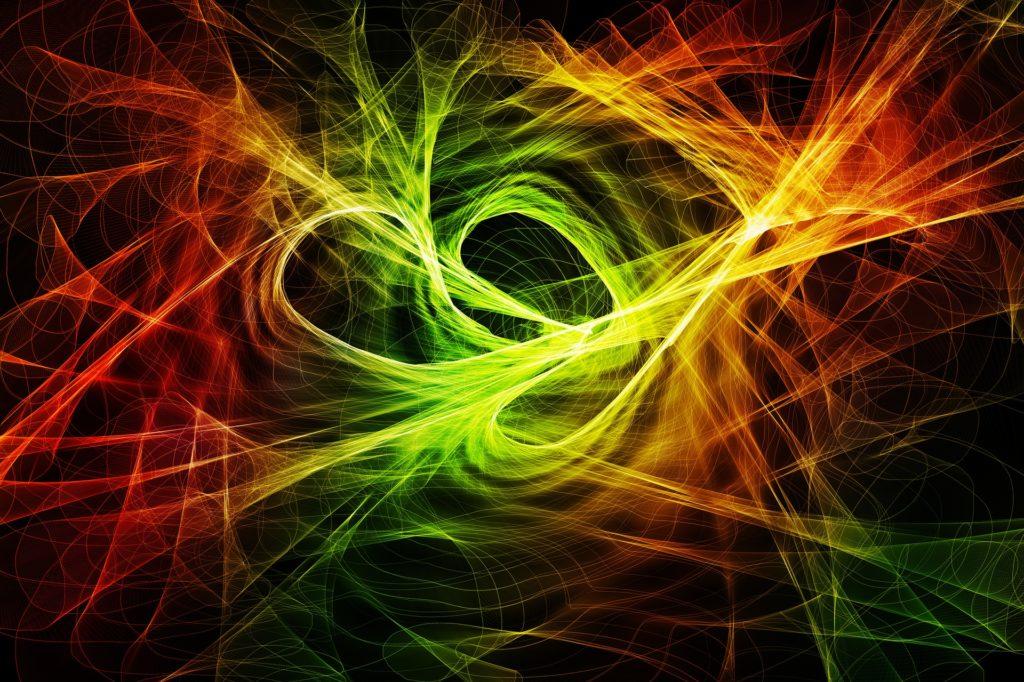 partículas, 波, 光线, 晕, 多彩, 混沌, entropía, 1705241641