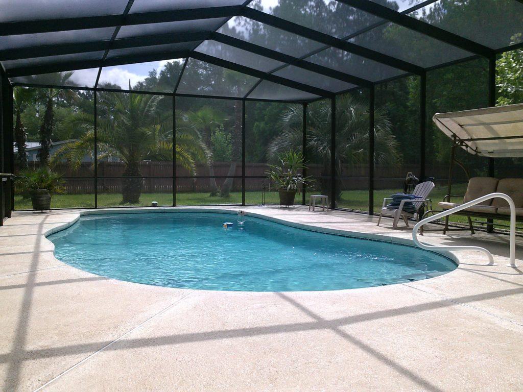 piscina, cubierta, cristales, palmeras, relax, 1705250808