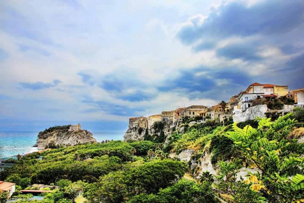 pueblo, mar, acantilado, costa, calabria, italia, 1705241358